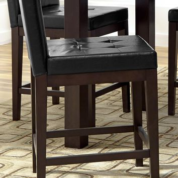 Athena Transitional Ctr Uph Dining Chairs (Set Of 2) Dark Chocolate