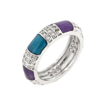 Purple And Turquoise Fashion Ring (size: 10) (pack of 1 ea)