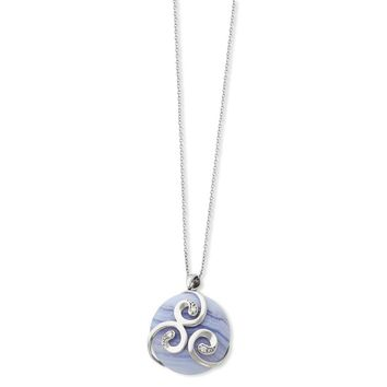 Sterling Silver River of Hope Sentimental Expressions Necklace