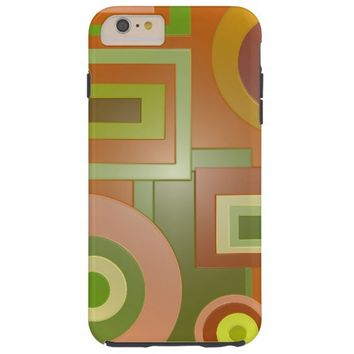 Yellow Green Squares Circles Tough iPhone 6 Plus Case