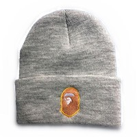 Perfect Bape Women Men Embroidery Knit Hat Beanie Cap Hat