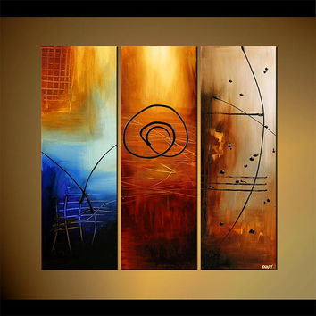 "Modern Abstract Painting, Contemporary Acrylic Abstract by Osnat - MADE-TO-ORDER - 36""x36"""