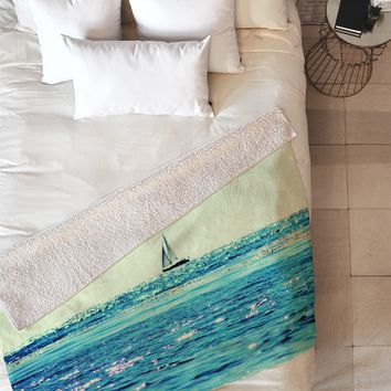Lisa Argyropoulos Sailin Fleece Throw Blanket