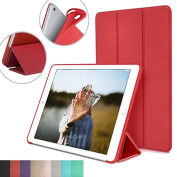 Smart Stand Cover for Apple iPad Pro 9.7-inch with Flexible Soft Back TPU Case