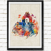 Harry Potter Poster, Severus Snape Watercolor Art Print, Kids Decor, Wall Art, Home Decor, Not Framed, Buy 2 Get 1 Free!