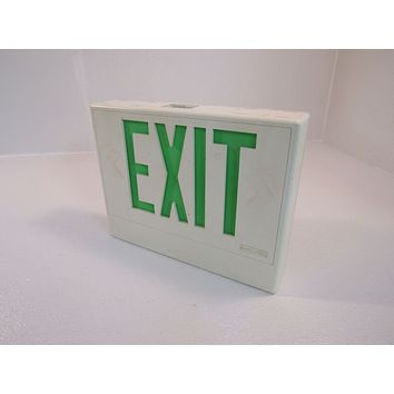 Hubbell Lighted Exit Sign Single Side 13 x 10in 120 VAC 277 VAC CCX70GWH -- Used