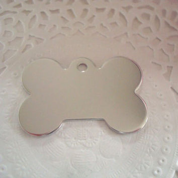 10pcs Aluminium Stamping Blanks Tag Charms Dog Bone 18 Gauge