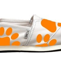 White Ed Sheeran Paw TOMS from British Potential