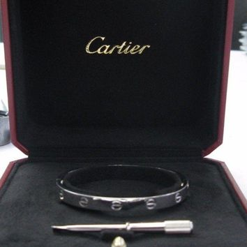 One-nice? Cartier Love Bracelet White Gold Size 17