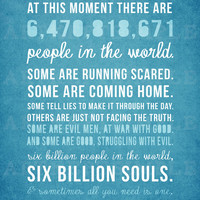 INSTANT DOWNLOAD Custom Order One Tree Hill Quote Poster 11x14