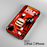 Pulp Fiction Collage A0746 iPhone 4S 5S 5C 6 6Plus, iPod 4 5, LG G2 G3, Sony Z2 Case