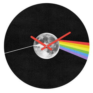 Nick Nelson Dark Side Of The Moon Round Clock