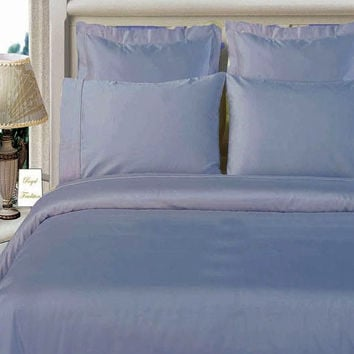 "100% Bamboo Lt-Blue Duvet cover set ""Silky Super Soft Covers"""