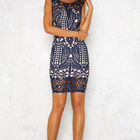 Coming Back Dress Navy