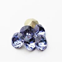 Six Tanzanite 8mm 1088 Foiled Swarovski Xirius Pointed Back Chaton Crystal DKSJewelrydesigns