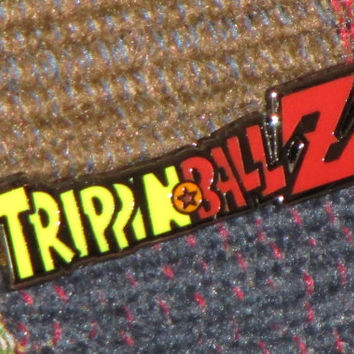 Trippin Ball Z Trippinballz LSD 25 Acid Blotter Art Japanimation Anime Parody Lapel Hat Pin