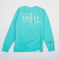 Paris Crewneck Sweatshirt in Diamond Blue