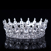 Hot European Designs Vintage Peacock Crystal Tiara Wedding Crown Bridal Tiara Accessories Rhinestone Tiaras Crowns Pageant