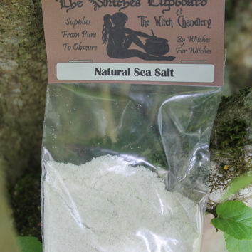 Natural Sea Salt, traditional craft, consecration rituals, protection rituals, purification rituals, Wiccan starter kit, basic ritual kit