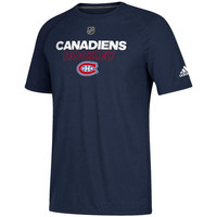 Men's Montreal Canadiens adidas Navy Authentic Ice climalite Ultimate T-Shirt
