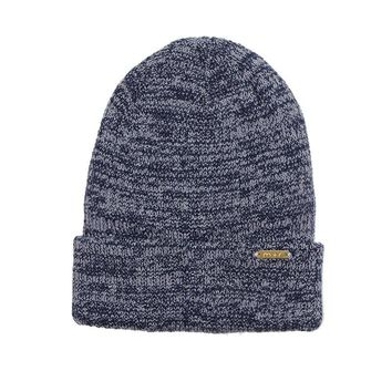 Fitted Marl Beanie- Navy