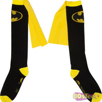 Black Batman Caped Knee High Socks