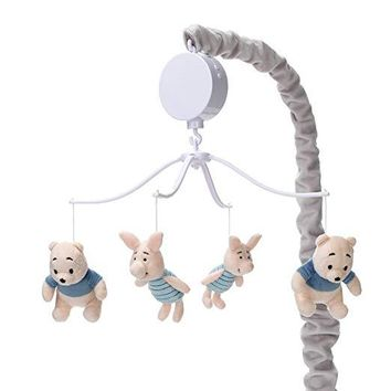 Lambs & Ivy Disney Baby Forever Pooh Gray/Beige Bear Baby Crib Musical Mobile