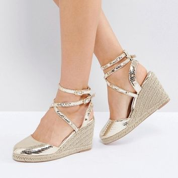 ASOS JEKYLL Studded Espadrille Wedges at asos.com