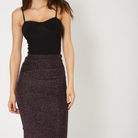 Midnight Sparkle Midi Skirt