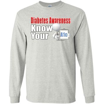 Diabetes Awareness Know Your A1c LS Ultra Cotton Tshirt