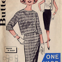 1960s Sheath Skirt / Jacket Pattern Butterick by treazureddesignz