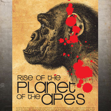 Rise of the Planet of the Apes - Vintage Poster A3 Print