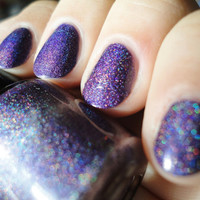 "ON SALE- Pixie Polish ""Pixie Purple""- Big 3 Free Purple Linear Holo Nail Polish. My Signature Color. One-Coat Linear Holo Awesomeness"