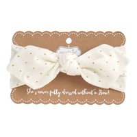 Jersey Gold Dot Cotton Headbands