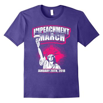 Impeachment March Shirt 2018 Statue of Liberty Pink Hat