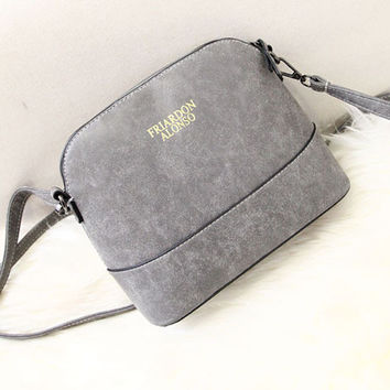 Korean Stylish Vintage Matte Bags Simple Design Shoulder Bags [6583133063]