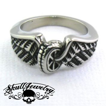 """""""Hell On Wheels"""" Stainless Steel Ring (478)"""