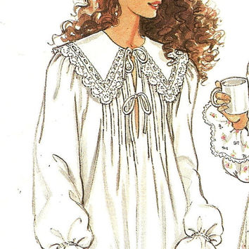 Woman's Victorian cotton or flannel nightgown 10 to 24