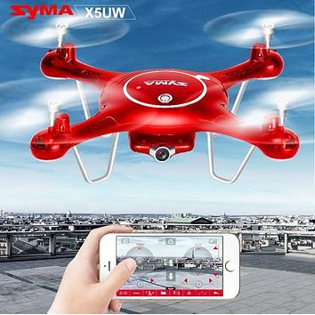 SYMA X5UW x5UC RC Drone 720P WIFI FPV Camera Helicopter Height Hold One Key Land 2.4G 4CH 6Axis RC Quadcopte with