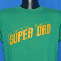 80s Super Dad 3D Block Letters Father t-shirt Medium