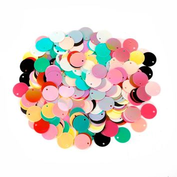 12/15/20/25mm Approx 120-440pcs/bag Colorful Sequins Arts Crafts Sewing DIY Apparel Sewing Fabric Sequins Accessories