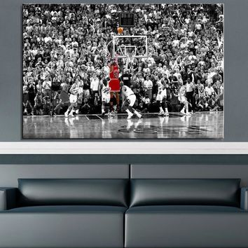 drop shipping  basketball star Canvas Painting for Living Room Home Decor Modern Wall Art Oil Painting Poster Print