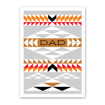 ROCK SCISSOR PAPER NATIVE PATTERN FATHER'S DAY CARD