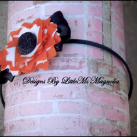 "Black Headband, Photo Prop, ""Harvest Moon""  Hair Accessories For Toddlers, Little Girls and Teen"