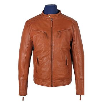 Men's Miass Cognac Leather Jacket
