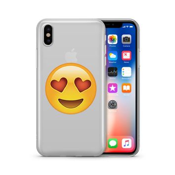 In Love Emoji - Clear TPU Case Cover