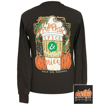 Girlie Girl Preppy Pumpkin Spice Fall Long Sleeve T-Shirt