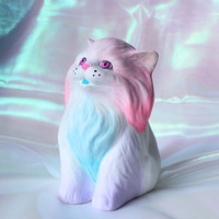 Space Cat #1 - Pastel Gradient Cat Sculpture