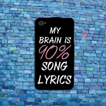 Cool Brain Song Music Cute Funny Quote Phone Case Cover iPhone 4 4s 5 5s 5c 6 6+