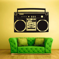 Wall Vinyl Sticker Decals Decor  Bedroom Audio Radio Recorder Retro (z927)